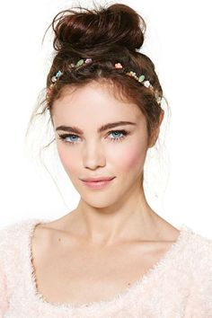 Flower Girl Jewel Headband | I love this headband, but I feel like you could probably diy this....