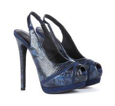 Peep-toe Slingback Heels.