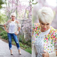 Florals never go out of style. As seen on chicover50.blogspot.com