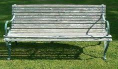 Edwardian garden bench