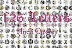 Monogram initials for personalized diy projects 126 letters. Good for buttons, bottle caps, jewelry, cake toppers, stickers, scrapbooking, diy crafts, etc! A B C D E F G H I J K L M N O P Q R S T U V W X Y Z