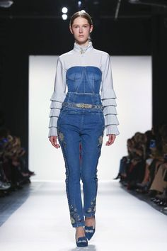 """Over atJonathanSimkhai, the show notes spoke for themselves, with the designer usinghis Fall/Winter 2017 collectionto emphasize """"that women need to draw attention to th..."""