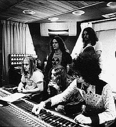 Allen in recording studio with RVZ...Skynyrd. Love this.