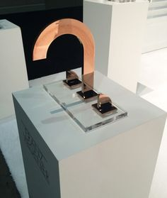 This is the pinnacle of modern design. Faucet by Franz Viegener Dwell On Design, Modern Design, Cuba, Copper Faucet, Shuffleboard Table, Kitchen Paint, Copper Color, Bath Design, Beautiful Bathrooms