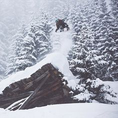 Amazing shot of Alek Oestreng from @Kathy Chan Chan B Snowboards!