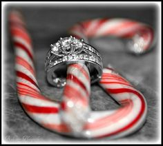 Christmas Engagement #candycane #diamond #holidays    Like us on Facebook!!!!!!!Gifts/Giveaways www.facebook.com/586eventgroup www.586eventgroup.com