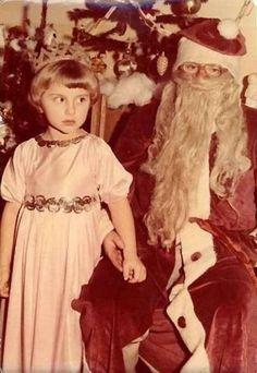 vintage everyday: 27 Vintage Creepy Santa Claus Snapshots Can Make You Scare