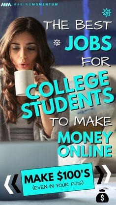 Are you looking for some GREAT (and easy) ways to make money before, during or after classes? Here are GREAT online jobs for college students to earn extra cash! Make money online teens Earn Extra Cash, Making Extra Cash, Extra Money, Earn Money From Home, Make Money Fast, Earn Money Online, Money Today, Online Income, Legit Online Jobs