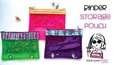 Binder Storage Pouch - Beginner Sewing Friendly - YouTube