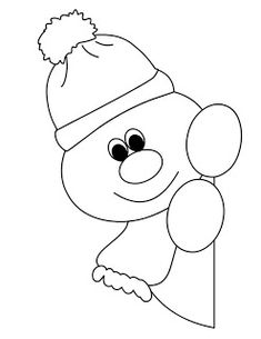 Window snowman coloring pages for preschool Christmas Paper, Christmas Crafts For Kids, Xmas Crafts, Christmas Printables, Christmas Colors, Christmas Projects, Snowman Quilt, Christmas Applique, Art Drawings For Kids