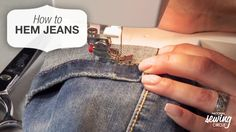 Learn helpful sewing tips to sew through the thick parts in jeans and find out how beneficial it can be to have a friend available to speed up the process. #LetsSew