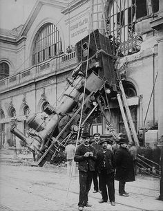 Take A Look At The Incredible Images Of The Montparnasse Train Crash Of 1895