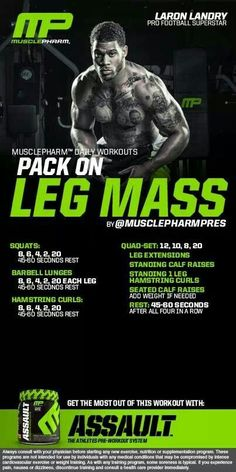 MusclePharm Pack on leg mass