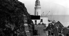 Tour Scotland Photographs: Old Photograph Lighthouse Bass Rock Scotland