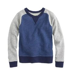 J.Crew - Boys' colorblock baseball sweatshirt