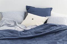 bed linen from Linge Particulier and Vintage cushion Florence Bouvier at www.bastilleandsons.com.au