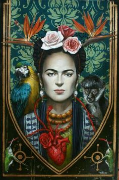 The Paintings of Sophie Wilkins Frida Kahlo Art And Illustration, Frida E Diego, Frida Art, Fridah Kahlo, Kahlo Paintings, Frida Kahlo Portraits, Art Visionnaire, Kunst Online, Magic Realism