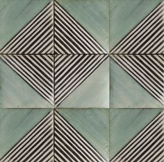 The hexagon, known as nature's perfect shape becomes the ideal frame of the Zaha collection of hand-painted tiles.
