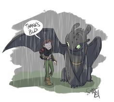Toothless makes a pretty decent umbrella, in a pinch. Hiccup and Toothless belong to Dreamworks. This art belongs to me. Toothless Dragon, Hiccup And Toothless, Hiccup And Astrid, Dragon 2, Httyd Dragons, Dreamworks Dragons, Cute Dragons, Httyd 2, Dreamworks Animation