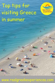 Greece in summer is lovely, but it can also be very busy and hot! Here are a few tips for visiting Greece in summer to help you enjoy your holiday! Travel Europe Cheap, European Travel Tips, Europe Travel Guide, Travel Destinations, Greece Vacation, Greece Travel, Mykonos, Santorini, Boston Travel