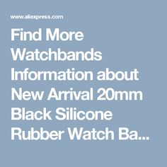 Find More Watchbands Information about New Arrival 20mm Black Silicone Rubber Watch Band Waterproof Digital Watch Original Watch Strap For Sports Watch SunRoad FR828,High Quality watch strap,China original watch straps Suppliers, Cheap strap for from SUNROAD INC. Store on Aliexpress.com