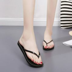 26b4a8eb7 Bailehou Women Slippers Fashion Designer Beach Flip Flops Ladies Shoes 2018  Summer Flat Thong Sandals Shower Slides