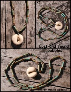 Lost and found pebbles - necklace