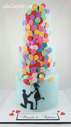 Up! Style engagement cake
