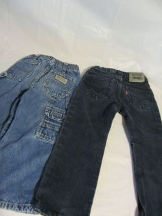 Levi Strauss Red tab jeans& Wrangler Blue Carpenter  Jeans sz 3T Cotton Blend #Levis #straightleg #Everyday