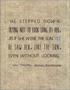Tolstoy Anna Karenina literary quote love by jenniferdare on Etsy, $10.00