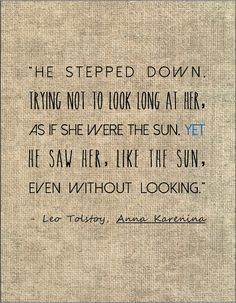 Tolstoy Anna Karenina literary quote love by jenniferdare on Etsy, $10.00
