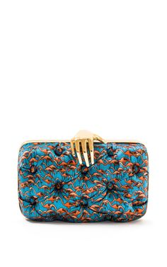 Shop Flamingo Carmen Clutch With Hand. This lively, flamingo printed clutch from Benedetta Bruzziches will have everyone flocking to you. Beautiful Handbags, Beautiful Bags, Best Handbags, Purses And Handbags, Fashion Bags, Fashion Accessories, Little Bag, Trends, My Bags