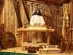 São José o carpinteiro, representado no nosso presépio. Visite o Maior Presépio do Mundo em movimento!  Entrada livre das 8h as 24h.