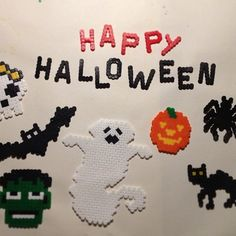 Happy Halloween hama beads by Sarah X