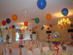 nemo birthday party ideas | floating balloons for a nemo party | Flickr - Photo Sharing!