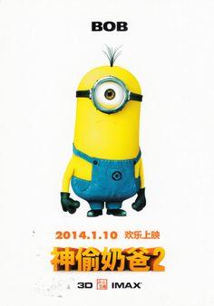 Illumination Entertainment Movie Film 2014 Despicable Me 2 Poster Postcard    Bob | Illumination Entertainment | Pinterest | Illumination Entertainment