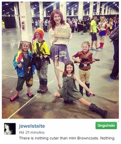 Jewel Staite with some mini Browncoats
