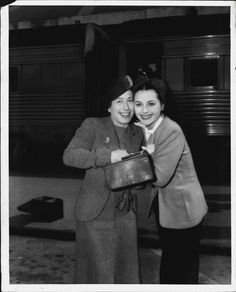 Hedy Lamarr With Her Mother Gertrude