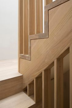 Wooden stairs by Sam Tisdall Architects New Staircase, Interior Staircase, Staircase Design, Interior Architecture, Stair Design, Stair Handrail, Staircase Railings, Stairways, Bannister