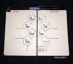 "218 Likes, 7 Comments - @bujodom on Instagram: ""A basic layout for my first week back at uni #bujo #bujoweeklyspread #bujoideas #bujo2018…"""