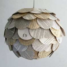 Paper lantern made from old books... I cannot rave enough about the items and artists that Fab.com uncovers!  http://fab.com/5yhwmy