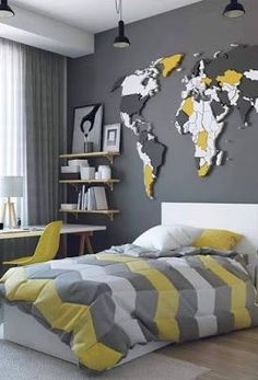 Best 15 Childrens Interior Design Ideas Wohnkultur Journal - 15 besten Kinder Innenarchitektur Ideen Home Decor Journal, - Modern Bedroom Decor, Boys Bedroom Decor, Bedroom Ideas, Design Bedroom, Contemporary Bedroom, Master Bedroom, Bedroom Themes, Dream Bedroom, Childrens Bedroom