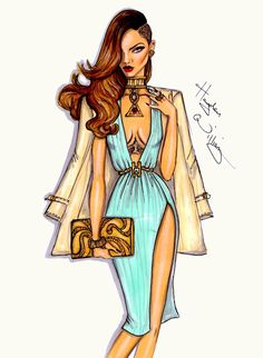 Hayden Williams Fashion Illustrations: 'Pretty Young Thing' by Hayden Williams