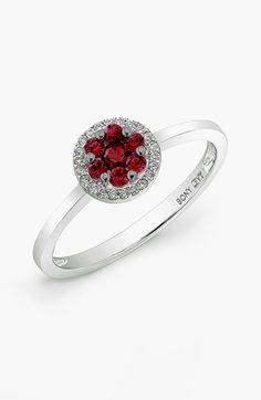 Bony+Levy+Ruby+Flower+Ruby+&+Diamond+Ring+(Nordstrom+Exclusive)+available+at+#Nordstrom