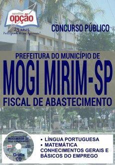 Apostila - FISCAL DE ABASTECIMENTO - Prefeitura de Mogi Mirim-SP