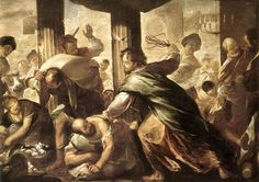 Christ cleansing the temple. Wrath of Jesus