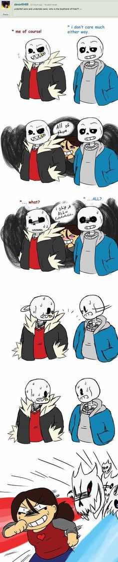 Underfell and Undertale Sans