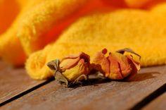 Bambusový ručník s BIO bavlnou  - žlutý