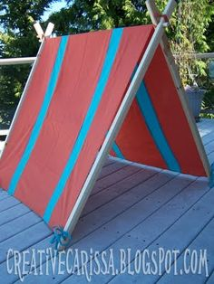 My DIY Kid Play Tent & Make Your Own Kid Sized Play Pup Tent Indoor / Outdoor for Less ...