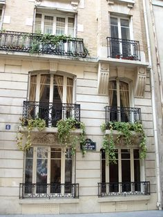 French wrought iron balconies